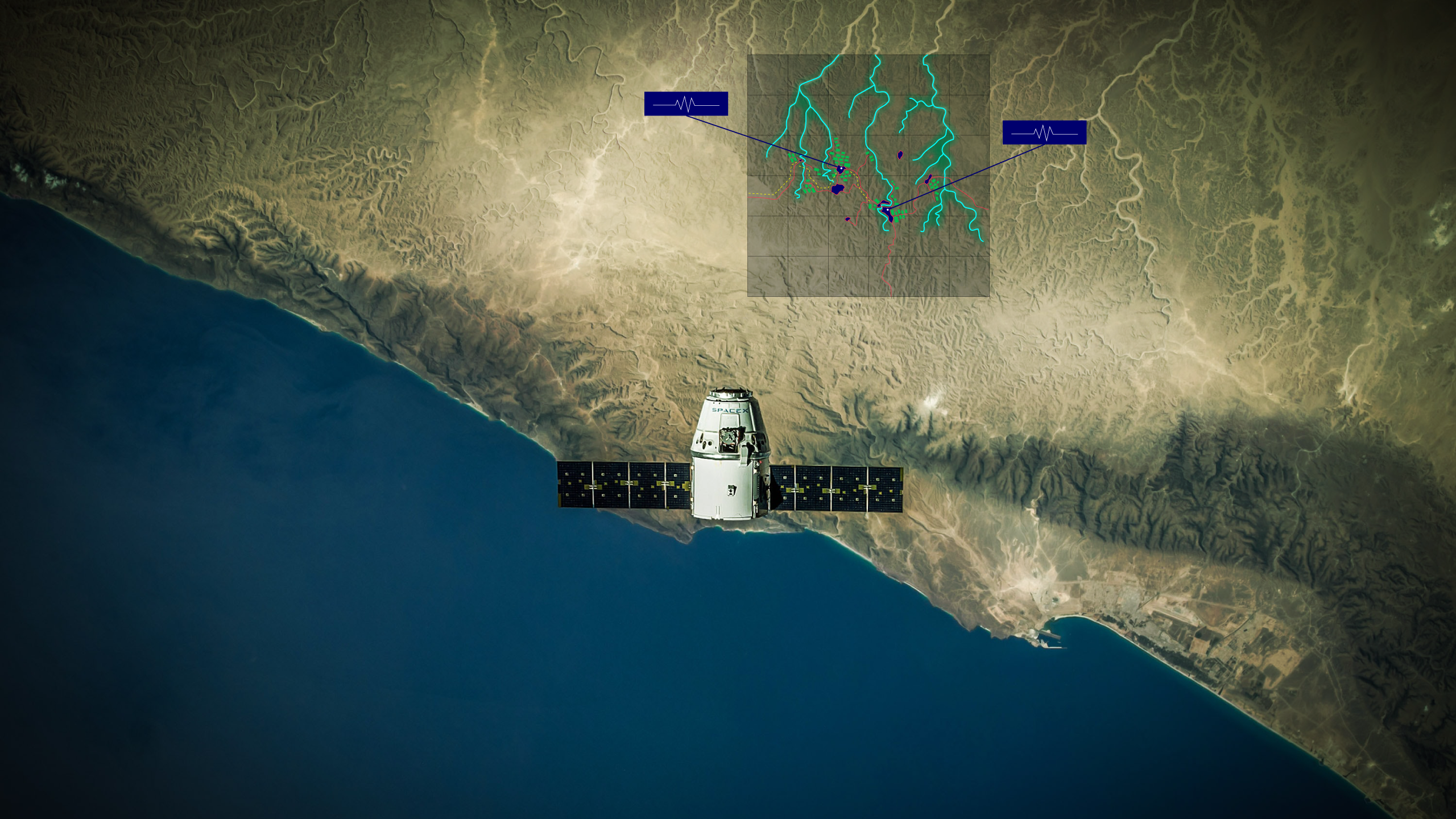 VIDA uses earth observation, data analysis and AI to make visible the investment opportunities in remote villages. ©SpaceX and Village Data Analytics